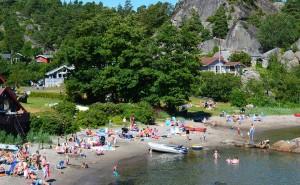Svinevika, langgrunn og barnevennlig strand
